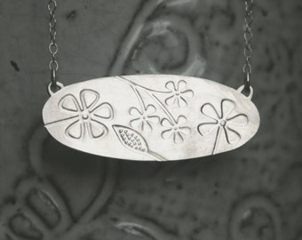 Sterling Silver Necklace - Spring Flowers
