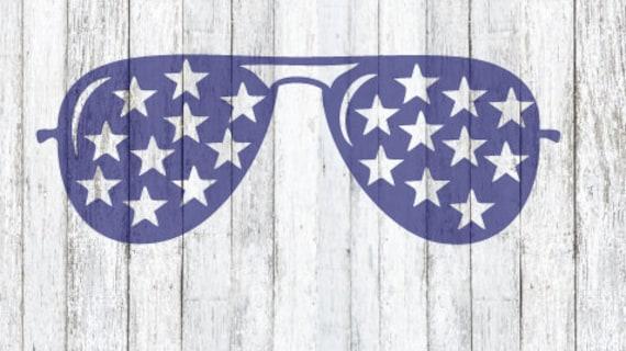 patriotic aviator sunglasses svg file