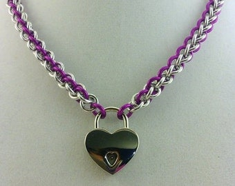 """16"""" Andodized and Bright Aluminum JPL Necklace"""
