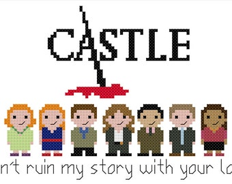 Castle PDF cross stitch pattern - instant download