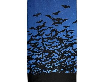 Bats Night Sky All Over Terry Cloth Towel
