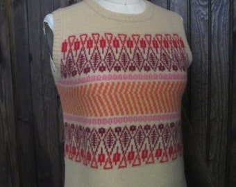 James Coviello for Anna Sui Vintage Hand Knit Sweater Vest