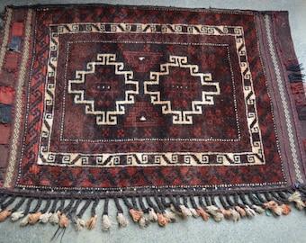 3'10 x 2'6  Handmade Cushion Cover Vintage Afghan Tribal Baluch Cushion Cover