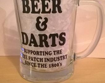 Beer and Darts pint tankard - humour