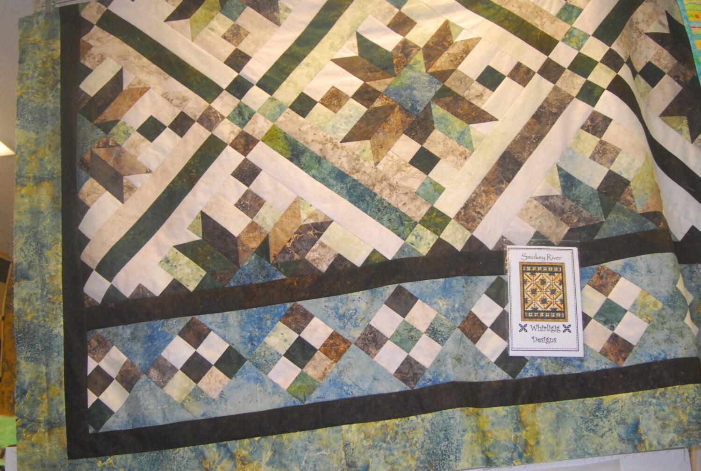 Quilt Patterns For Stonehenge Fabric : Smokey River Quilt Kit with Stonehenge Fabric and Pattern