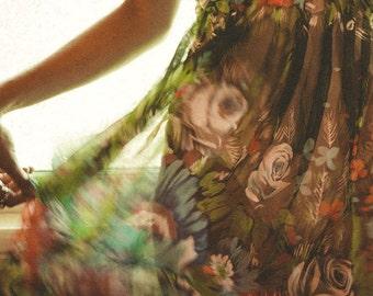Bohemian Silk Dress, 70s