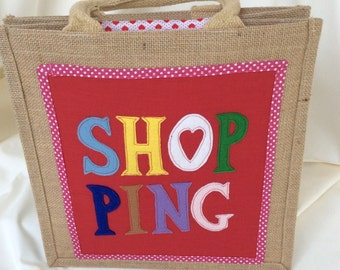 Heart Shopping Appliqué Tote