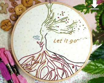 Tree Maze,Let it go,Love,Hand embroidery patterns pdf,Digital download,Stitching design,Maze