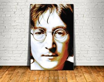 John Lennon Canvas High Quality Giclee Print Wall Decor Art Poster Artwork