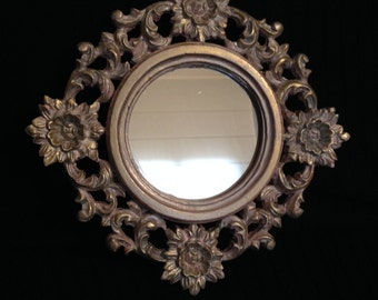 Mirror Baroque style with frame resin