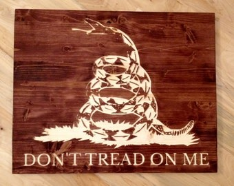 "20""x16"" Don't Tread on Me (Gadsden Flag) Wall Art"