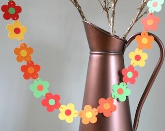 Autumn Garland, Bunting, Banner, Fall Garland, Thanksgiving, Fall Party Decoration, Bright Autumn Flowers Garland, Autumn Wedding