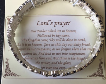 Lords prayer stretch bracelet!!