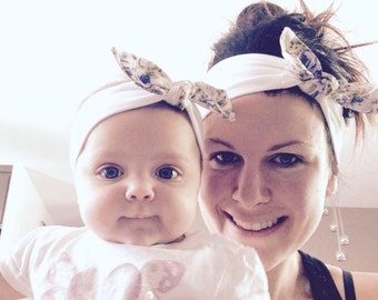 Duo of headbands for MOM and baby