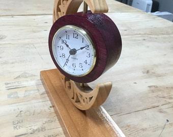 Wooden Celtic Moon Clock