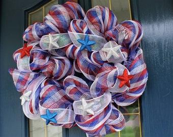 Patriotic Stars Wreath