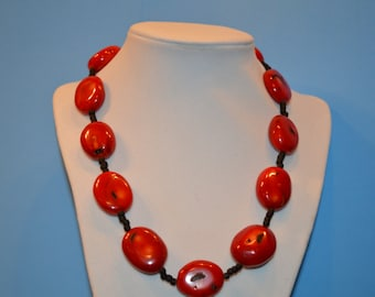 A Touch of Red Necklace