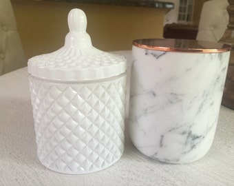 White Candle/27 hour burn time/ Home Decor/Luxury Candles/Soy Candles