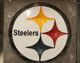 Steelers 12 by 12 stone carving