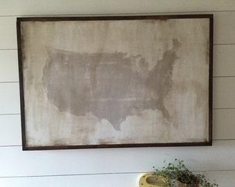 "USA Map 25.5x37.5"""