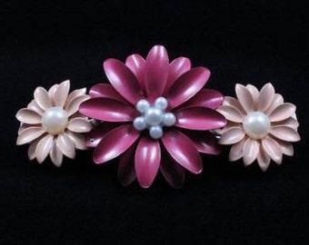 Flower French Barrette