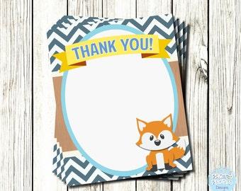 Woodland Themed Thank You Card, Woodland Birthday Thank You, Thank You Card, Birthday Thank You