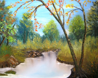 "The painting ""Silent River"""