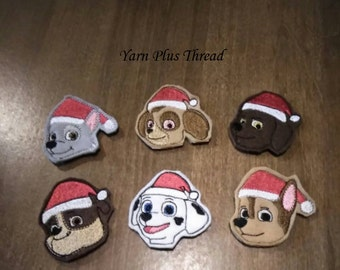Christmas Paw Buddies Felties Embroidery Design
