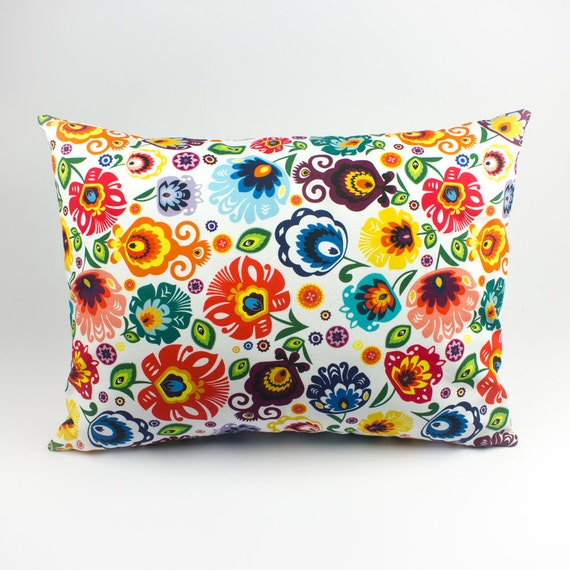 Floral pillow cover Colorful pillows Outdoor pillow covers