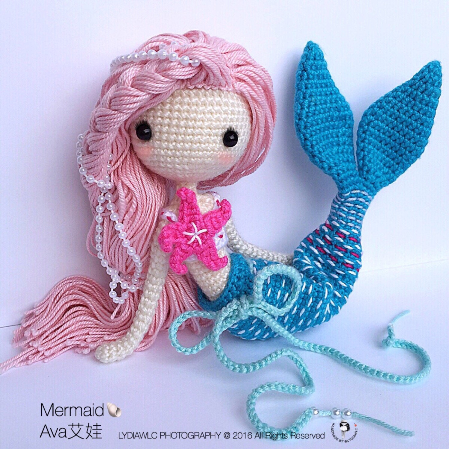 Mini Owl Amigurumi Pattern : Crochet Doll Pattern Mermaid-Ava??. A crochet doll with 2