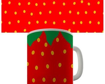 Strawberry Ceramic Novelty Mug