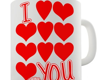 I Heart(s) You Ceramic Mug