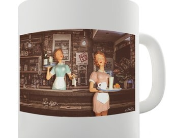 Surreal Mom's Diner Ceramic Funny Mug