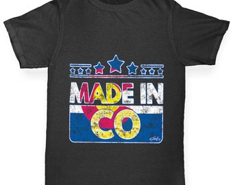 Girl's Made In CO Colorado T-Shirt