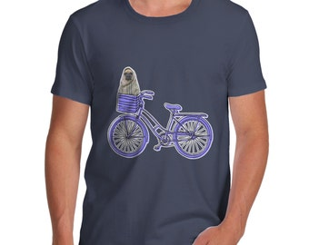 Men's Pug On A Bike T-Shirt