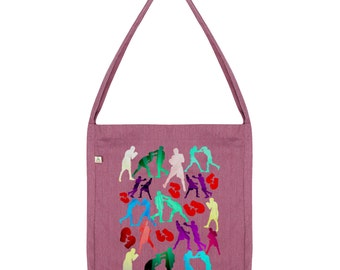 Rainbow Boxing Silhouette Tote Bag
