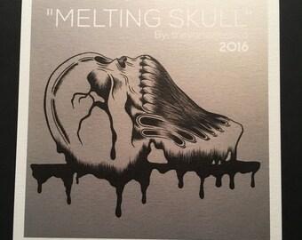 "MELTING SKULL (5""x5"" Prints)"