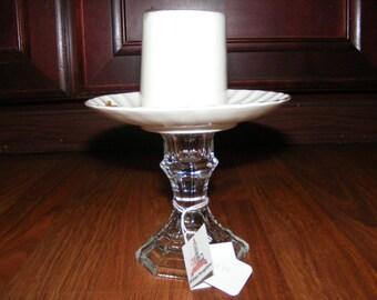 Candle Saucer English Bone China Spring Rose