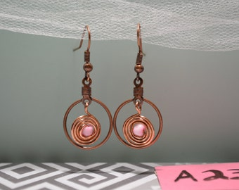 Copper Wrapped Earrings