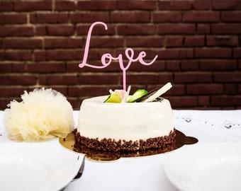 3D printed Love Wedding Cake Topper
