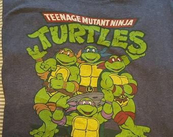 Retro 80s Teenage Mutant Ninja Turtles Tee sz L