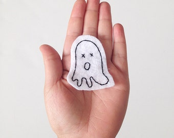 Ghost Patch, embroidered
