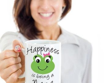 Nana Coffee Mug - Happiness is being a Nana - Gift Mug For Nana, Great Birthday Gift, Nana Present