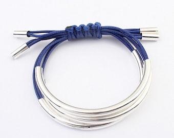 Handmade multilayered leather bracelet