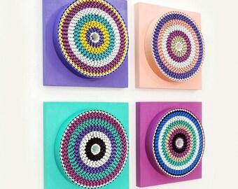 Spring - Abstract Installation -Geometric- 3D Wall Art - Modern Wall Art - Home Decor - Contemporary - Wall Accent - AV13