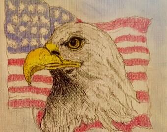 Eagle on Flag
