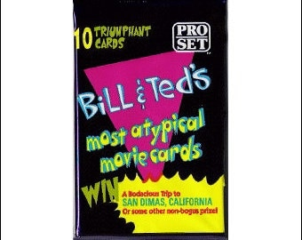 1991 Bill & Ted's most atypical movie cards Unopened Trading Card Pack Pro Set
