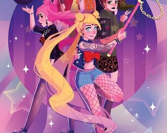 Punk Sailor Moon Poster
