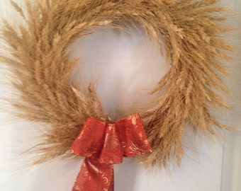 Fall Natural Wheat Wreath