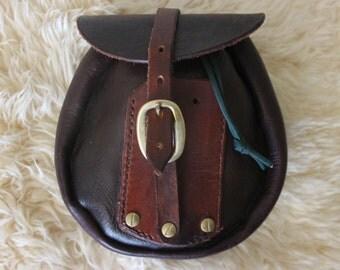 leather sporran pouch, belt pouch